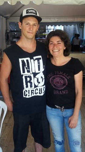 Avec Rémi Bizouard Nitro Circus 2016