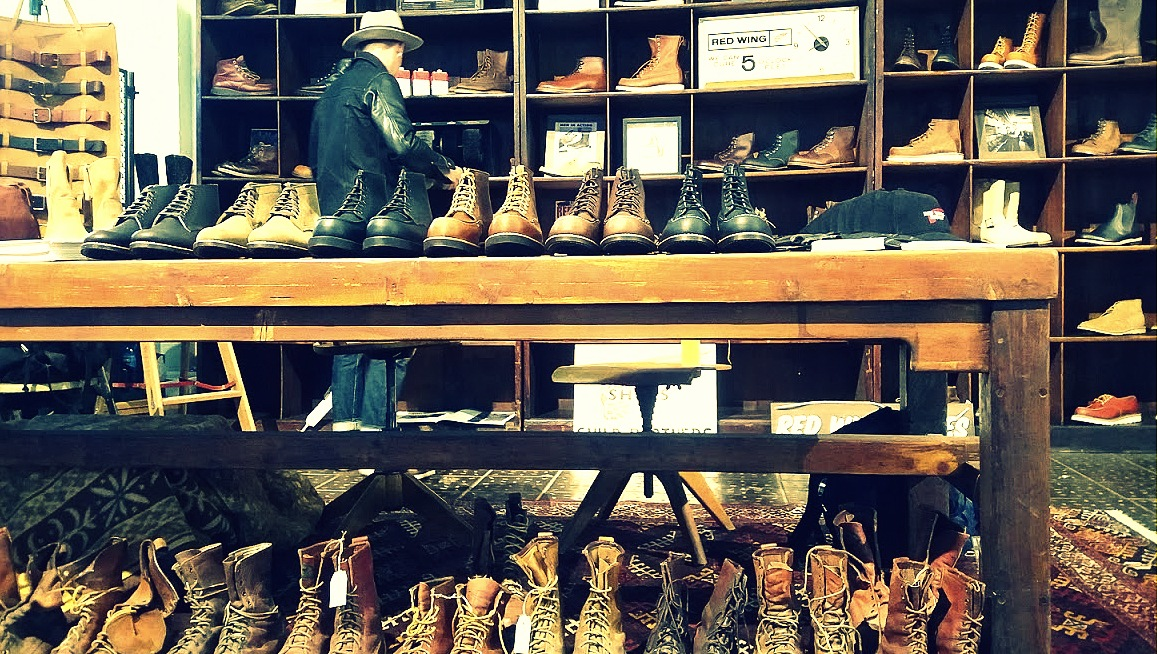 Red Wing Shoes au festival Pure and Crafted de BMW Motorrad