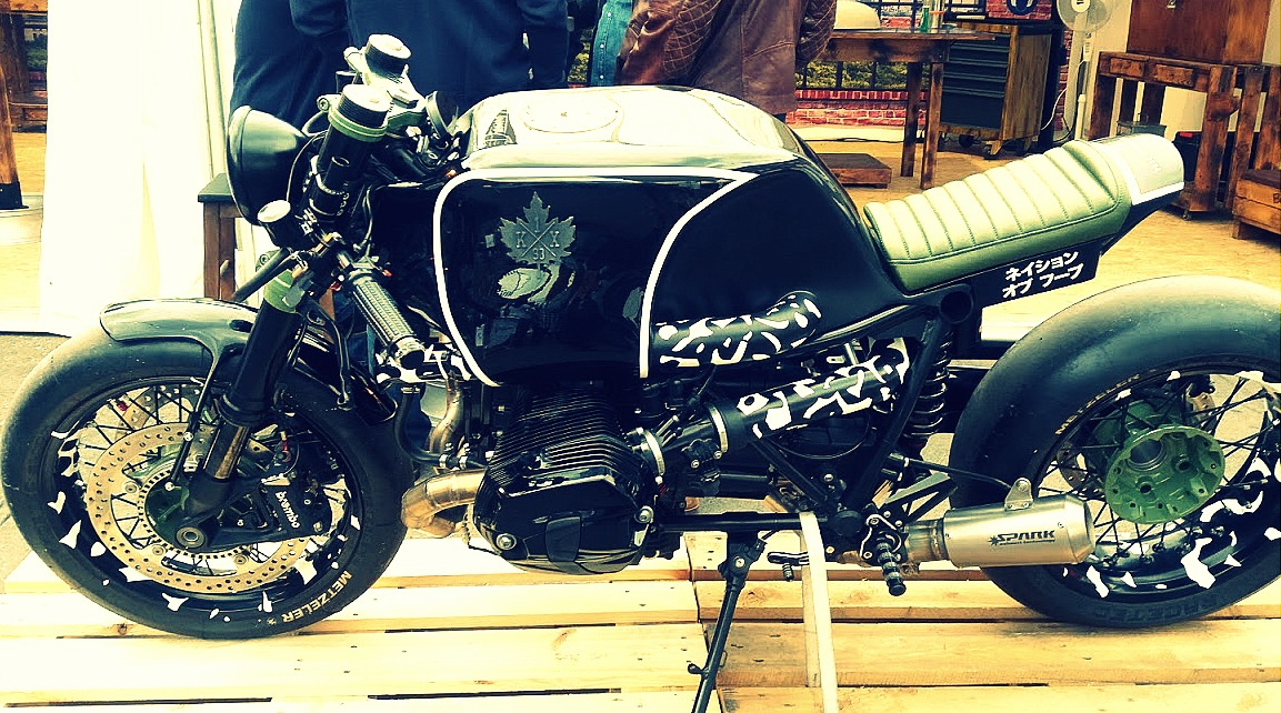 Stand Burg and Child au festival Pure and Crafted de BMW Motorrad