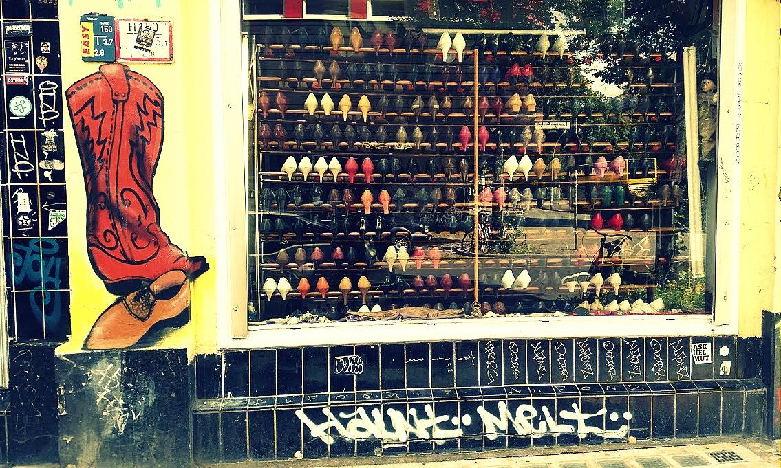 Magasin vintage chaussures Berlin néo-rétro et bio