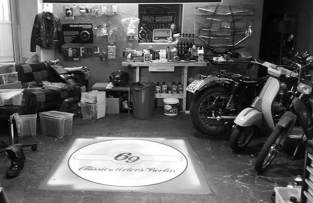 Atelier Café Racer 69 Berlin néo-rétro et bio