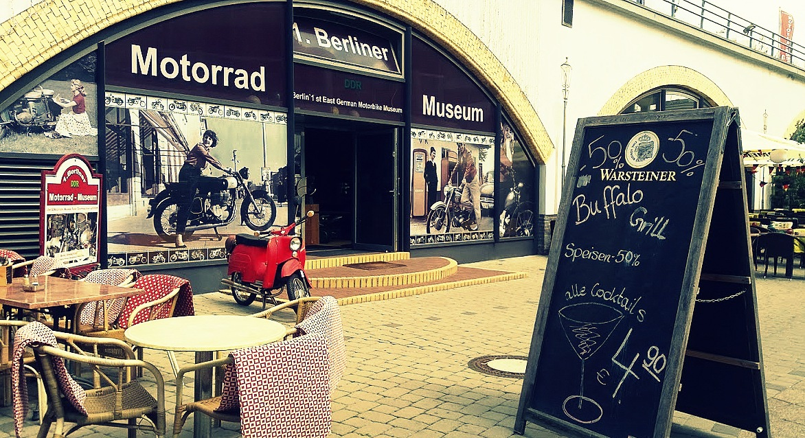 Entree du musée de motos à Berlin
