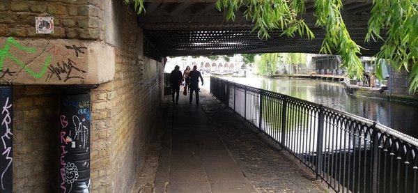 Passage sous un pont à Canden Town LONDRES NEO RETRO et BIO