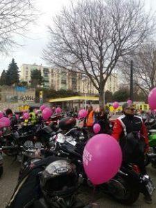 Top départ de Toutes en motos à Marseille