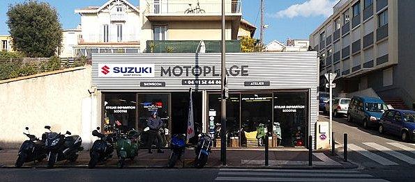 EXKLUSIV DEVANTURE DE MOTO PLAGE