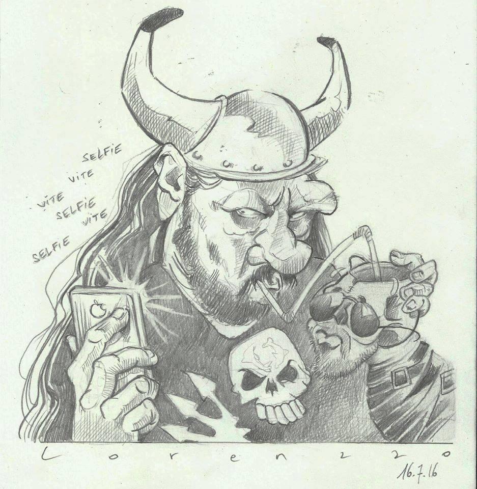 Caricature Lorenzzo à Mise en Scène par Fredo Slim